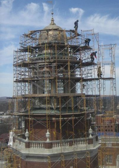 New England Scaffolding Construction Projects Trash Chute